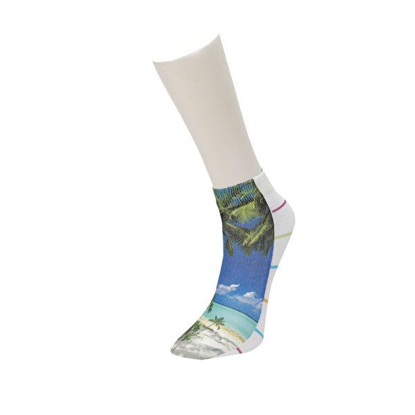 Fiyaka FYK 96 98Z Çok Renkli Kadın Çorap
