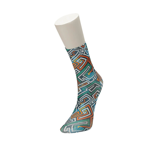 Fiyaka FYK 65 98Z Çok Renkli Kadın Çorap