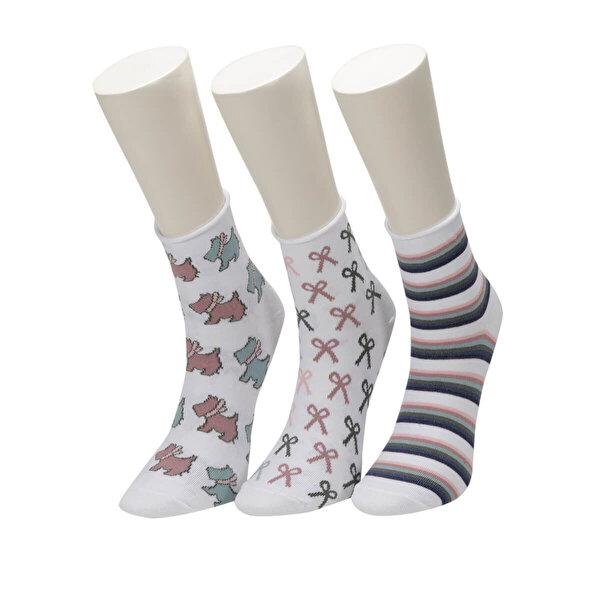 Fiyaka FYK 52 98Z Çok Renkli Kadın Çorap