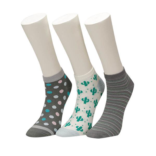 Fiyaka FYK48 98Z Çok Renkli Kadın Çorap
