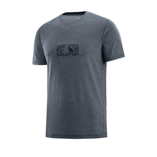 Salomon EXPLORE GRAPHIC SS TEE M Gri Erkek T-Shirt