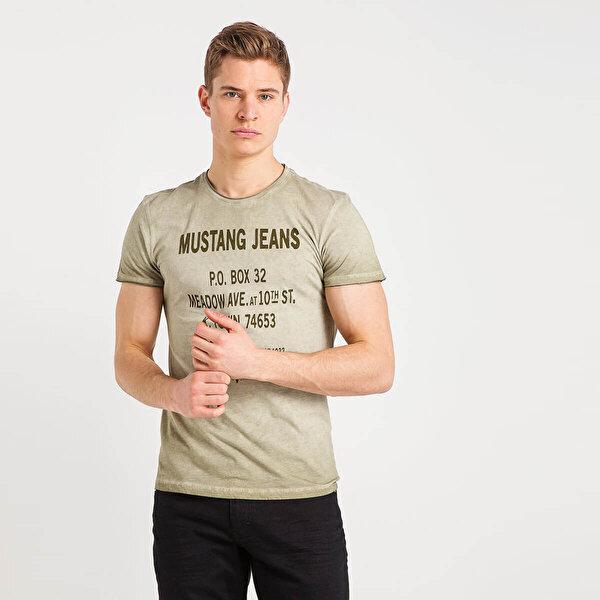 Mustang 04-M00122-182 Haki Erkek T-Shirt