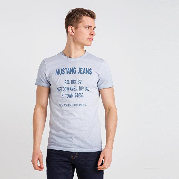 MUSTANG 04-M00122-503 Mavi Erkek T-Shirt