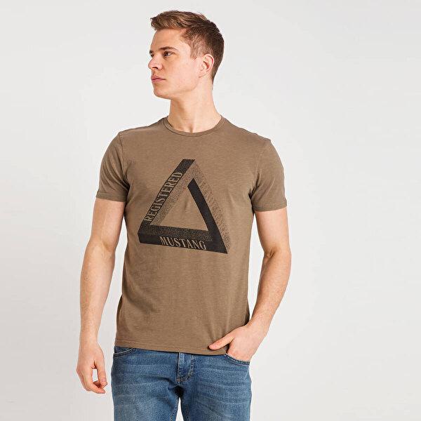 Mustang 04-M00127-671 Kahverengi Erkek T-Shirt