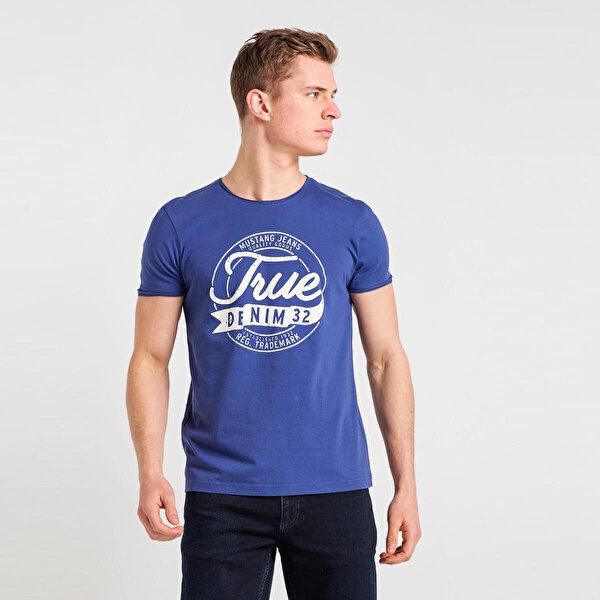 Mustang 04-M00156-490 Mavi Erkek T-Shirt
