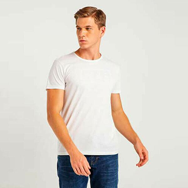 MUSTANG 04-M00188-200 Beyaz Erkek T-Shirt