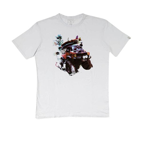 Quiksilver CLASSIC MONSTER GARDEN Beyaz Erkek Kısa Kol T-Shirt