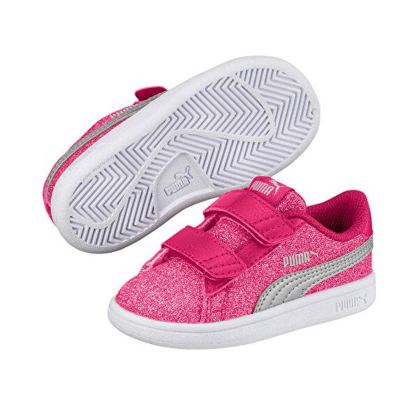 Puma SMASH V2GLITZ GLAMV INF Fuşya Kız Çocuk Sneaker Ayakkabı