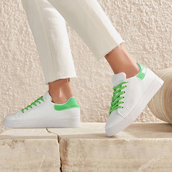 Butigo MILEN03Y CİLT Neon Yeşil Kadın Sneaker Ayakkabı