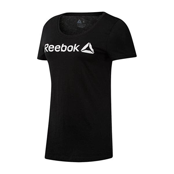 Reebok LINEAR READ Siyah Kadın Kısa Kol T-Shirt
