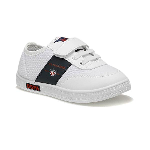 U.S. Polo Assn. CAMERON TEXTILE Beyaz Erkek Çocuk Sneaker
