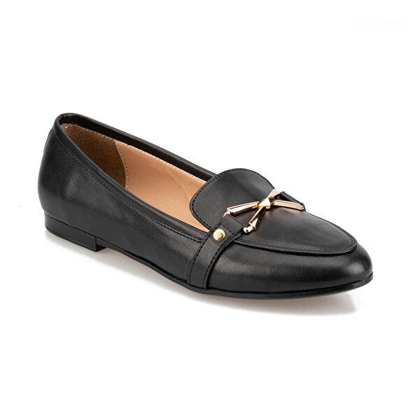 Polaris 92.314104.Z Siyah Kadın Loafer Ayakkabı