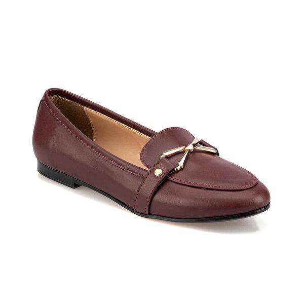 Polaris 92.314104.Z Bordo Kadın Loafer Ayakkabı