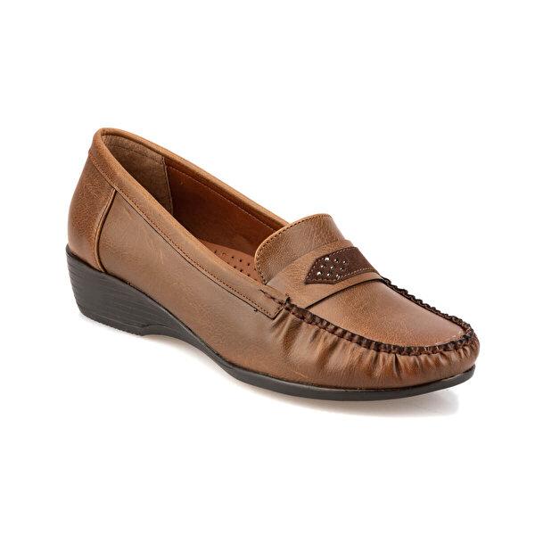 Polaris 92.151014.Z Taba Kadın Loafer Ayakkabı