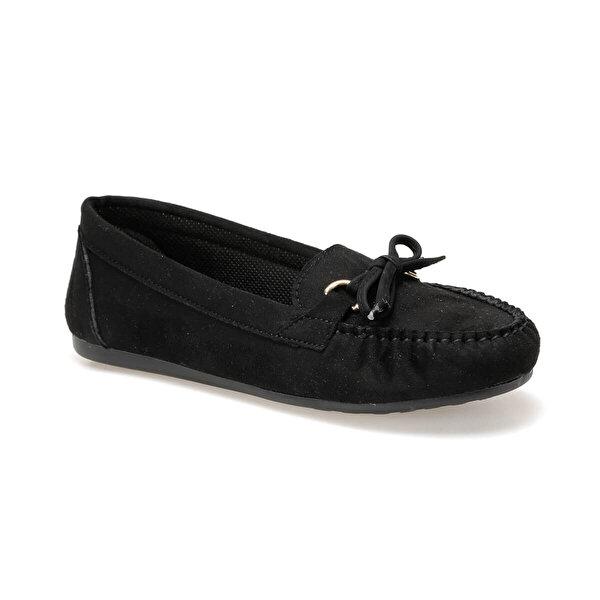 Miss F DW19007 Siyah Kadın Loafer Ayakkabı