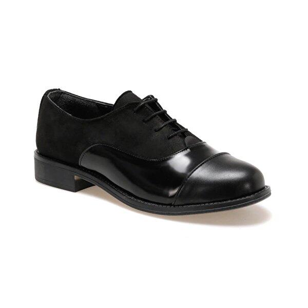 Miss F DW19034 Siyah Kadın Oxford Ayakkabı