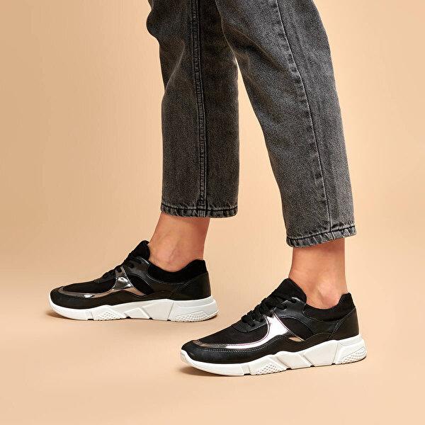 Butigo 19K-447 Siyah Kadın Sneaker Ayakkabı