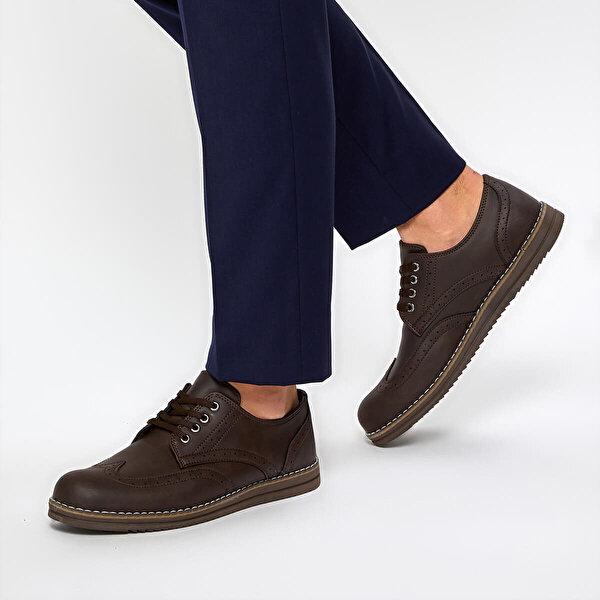 Polaris 92.356617.M Kahverengi Erkek Klasik Ayakkabı