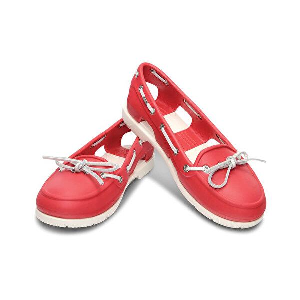 Crocs BEACH LINE BOAT SHOE RED- Kırmızı Kadın Babet