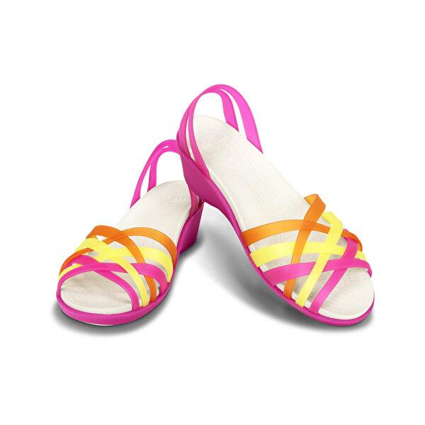 Crocs HUARACHE MINI WEDGE WOMEN Fuşya Kadın Sandalet