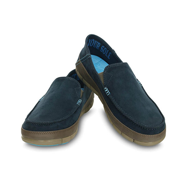 Crocs STRETCH SOLE MICROSUEDE L Lacivert Erkek Loafer Ayakkabı
