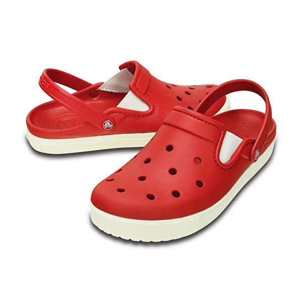 Crocs CITILANE CLOG PEPPER-WHIT Koyu Kırmızı Erkek Sabo Terlik