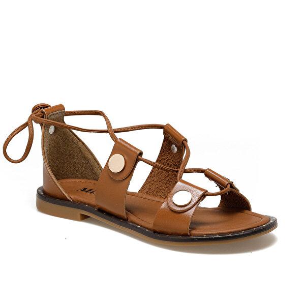 Miss F DS19093 Taba Kadın Düz Sandalet