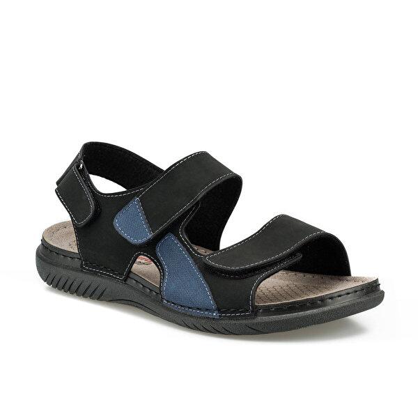 Polaris 160254.M Siyah Erkek Sandalet