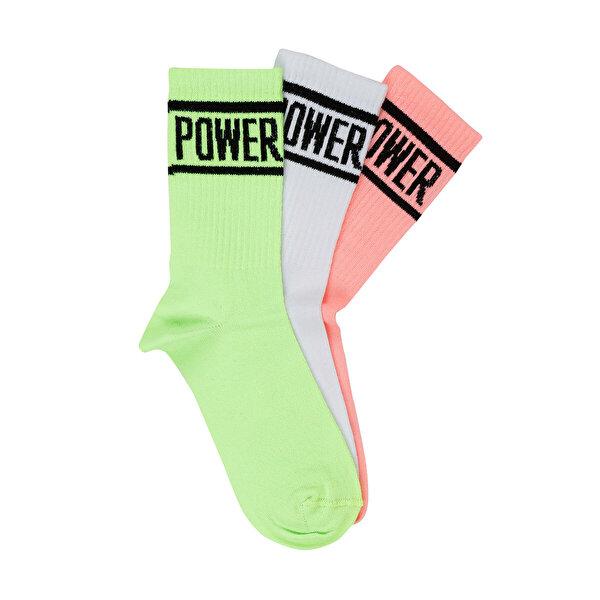 Kinetix C14 CULVERUZUN SOKET Yeşil Kadın Çorap