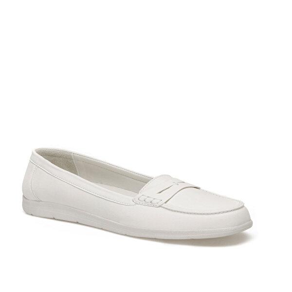 Travel Soft TRV1603.Z Beyaz Kadın Loafer Ayakkabı