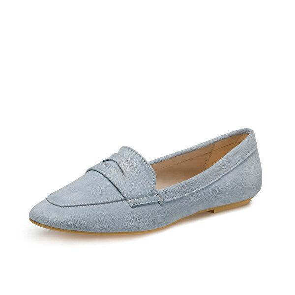 Miss F DS20048 Mavi Kadın Loafer Ayakkabı