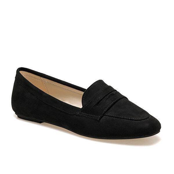 Miss F DS20048 Siyah Kadın Loafer Ayakkabı