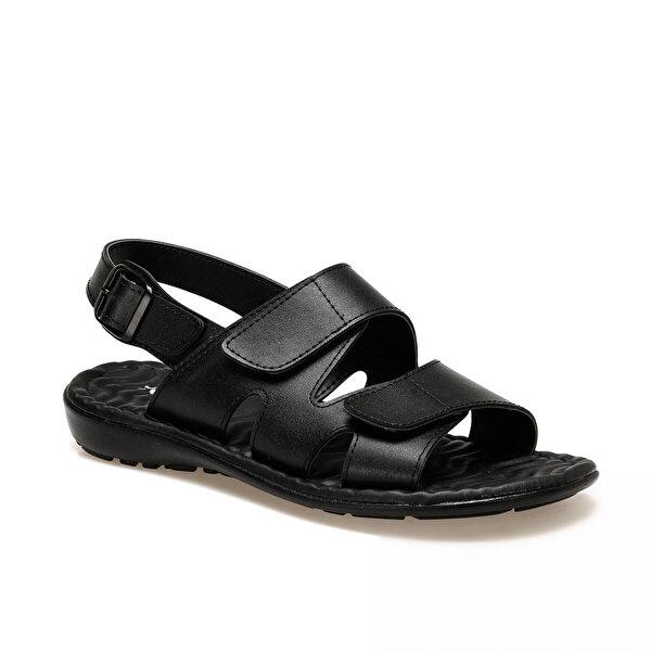 Polaris 160277.M Siyah Erkek Sandalet