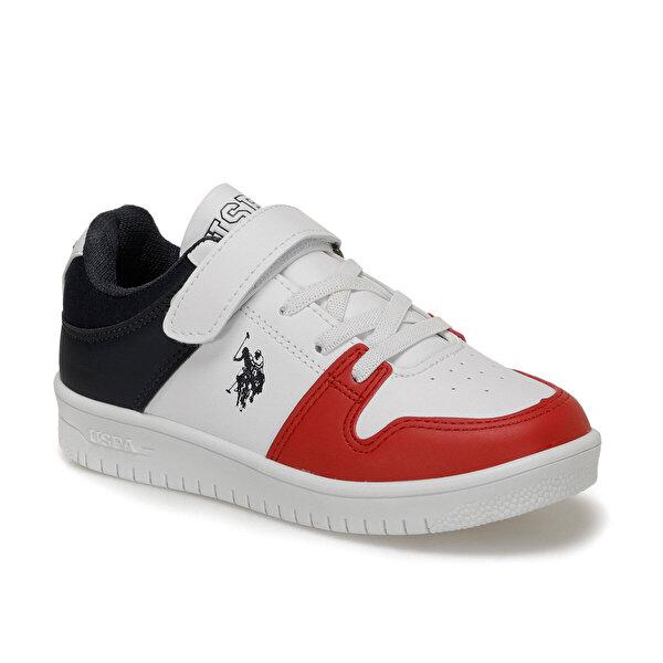 U.S. Polo Assn. DOUGLAS Beyaz Erkek Çocuk Sneaker Ayakkabı