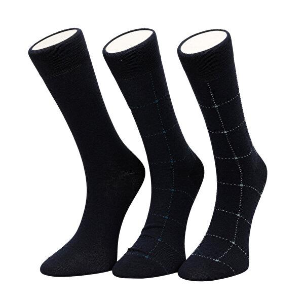 Garamond EKOSE 3 LU SKT-M Lacivert Erkek Soket Çorap