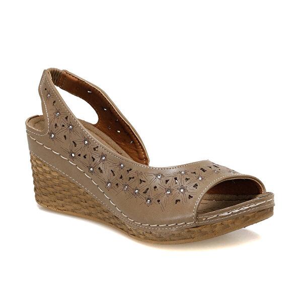 Polaris 91.157342.Z Kum Rengi Kadın Sandalet