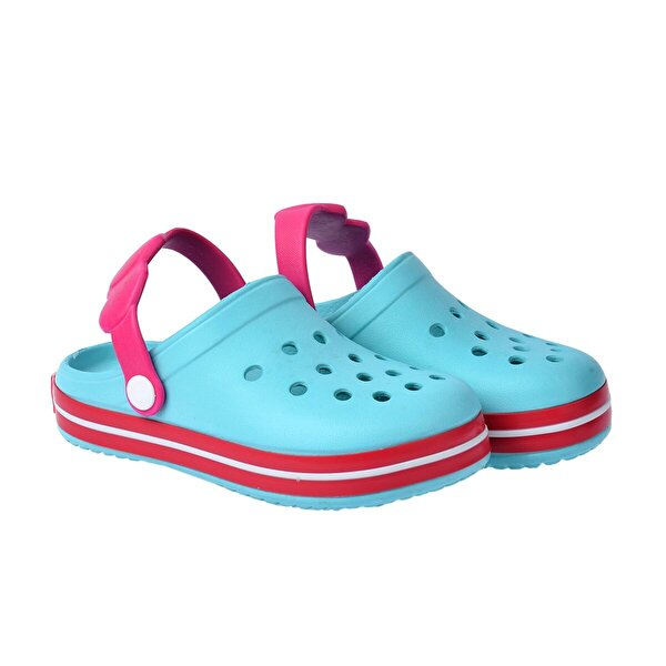 Kiko Kids Kiko Akn E196.46 Plaj Havuz  Kız/Erkek Çocuk Sandalet Terlik Mint Fuşya Beyaz