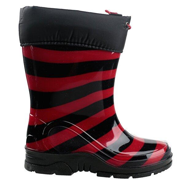Ayakland Arı 0013 Su Geçirmez Çizme Kız/Erkek Çocuk Bot Ayakkabı SİYAH