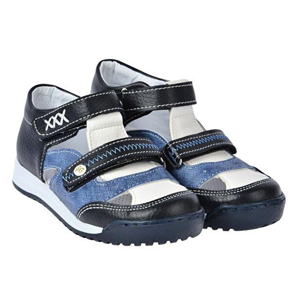 Şirin Bebe Kiko Şb 2405-10 Ortopedik Erkek Çocuk Ayakkabı Sandalet Siyah-Mavi