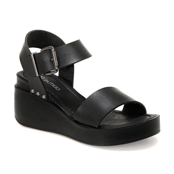 Butigo 20S-528 Siyah Kadın Dolgu Topuklu Sandalet