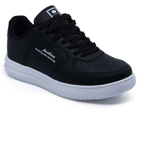 Ayakkabix Düz Model Günlük Rahat Spor Ayakkabı Siyah-beyaz