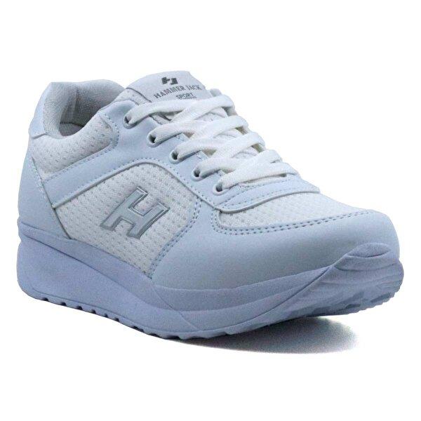 HAMMER JACK 5451118-Z Günlük Hafif Dolgu Topuk Spor Ayakkabı Beyaz