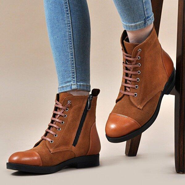 Vizon Ayakkabı Kadın  Taba-Süet Bot VZN19-139K