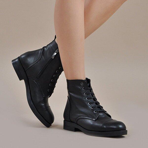 Vizon Ayakkabı Kadın  Siyah-Cilt Bot VZN19-139K