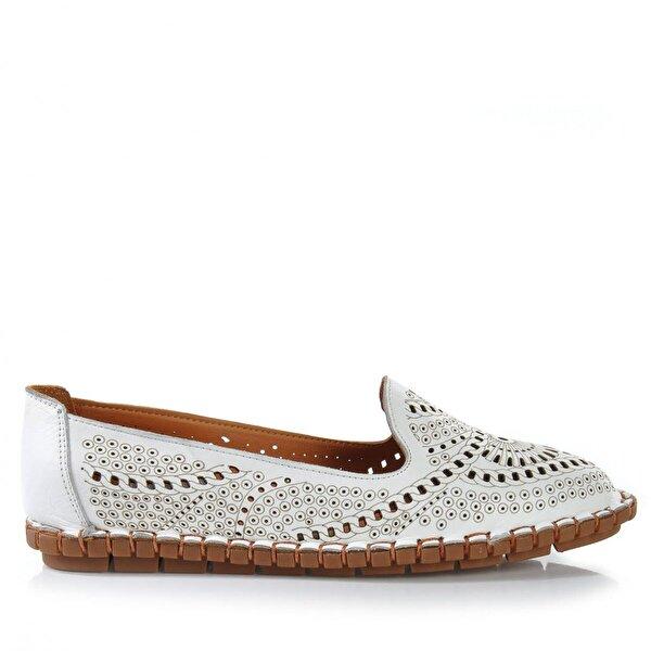 Vizon Ayakkabı Kadın  Beyaz Günlük Ayakkabı VZN-283Y