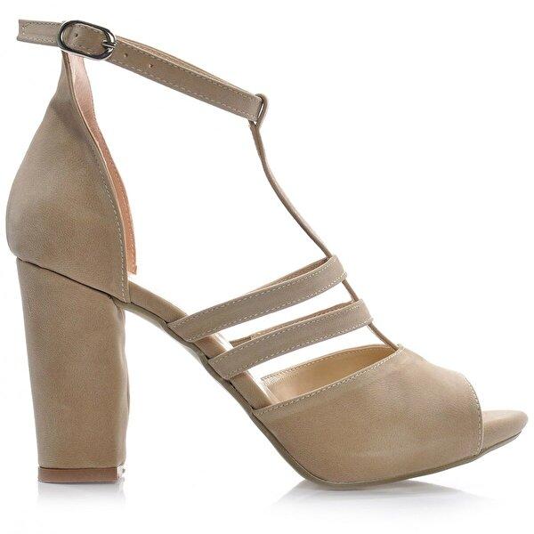 Vizon Ayakkabı Kadın  Vizon-Süet Klasik Topuklu Ayakkabı VZN-291Y