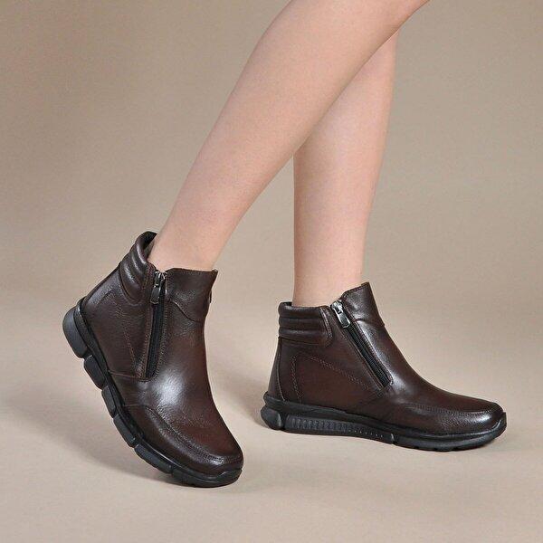 Vizon Ayakkabı Kadın  Kahve Bot VZN19-013K