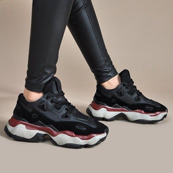 Vizon Ayakkabı Kadın  Siyah Spor Ayakkabı VZN19-035K