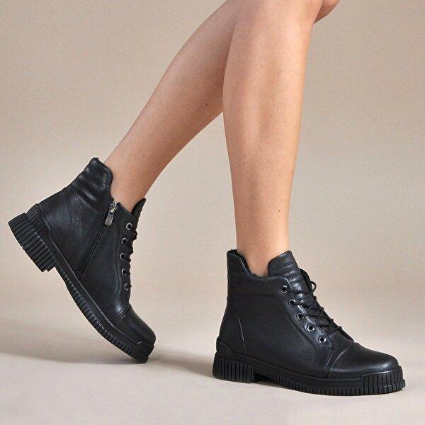 Vizon Ayakkabı Kadın  Siyah Bot VZN19-042K