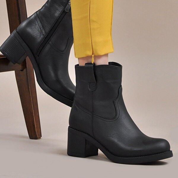 Vizon Ayakkabı Kadın  Siyah Bot VZN19-051K